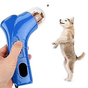 Pssopp Drôle Pet Traiter Lanceur Shooter Chien Nourriture Catapult Chiot Snack Feeder Distributeur Pet Formation Jouets Interactive Toys pour pour l'exercice et la Formation