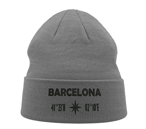 Barcelona Coordina España Ciudad Viajes Bordado Invierno Beanie Hood Unisex Transpirable Warm...