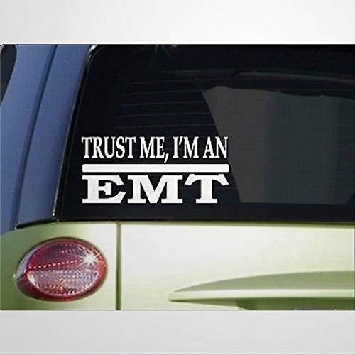 Trust Me EMT - Calcomanía de vinilo para ventana de coche, diseño de ambulancia Er Doctor Scrubs