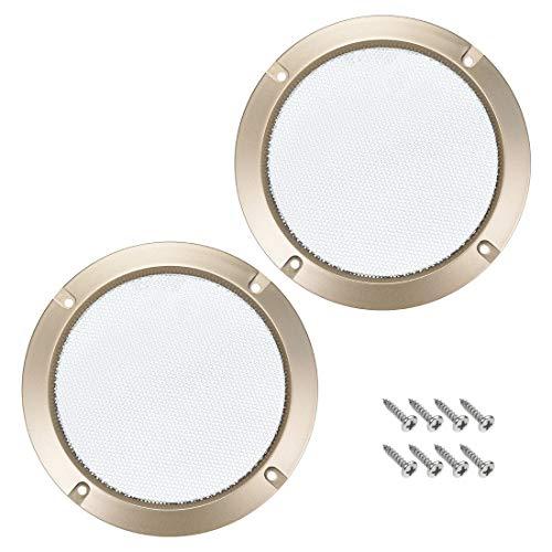 Sourcingmap - Juego de 2 protectores de rejilla para altavoces de 16,5 cm, color dorado