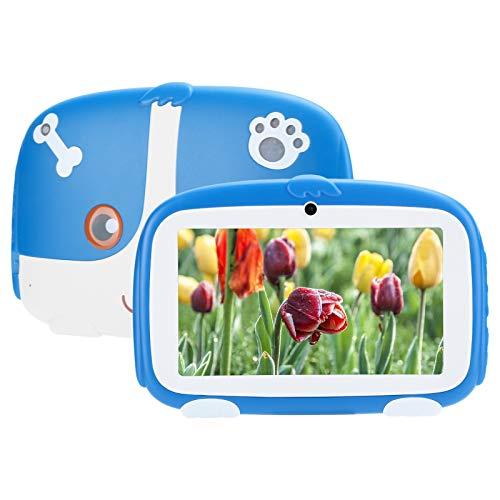 1GB+16GB 7 Pulgadas HD Pantalla TFT Capacitiva Multitáctil Tableta de Estudio, Tableta Multifuncional Azul para Andriod 9.0 para Niños, Tableta PC de Estilo Lindo, Admite Internet 3G WIFI(AZUL)