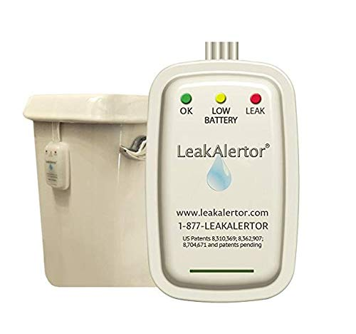 LeakAlertor 6000 Toilet Leak Detector – Installs in Seconds, No Tools Required/Detects Leaks, Running Toilets, and Other Problems that Cause High Water Bills/Visual & Audible Alerts