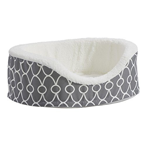MidWest Orthopedic Nesting Pet Bed with Teflon, Small, Gray