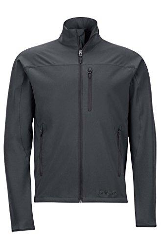Marmot Men's Tempo Softshell Jacket, Jet Black, Large