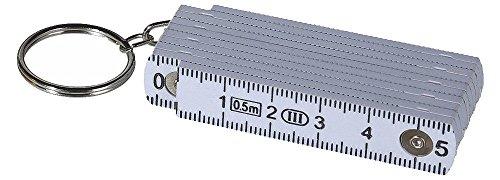 OOTB Schlüsselanhänger »Zollstock« 50 cm (Weiß)