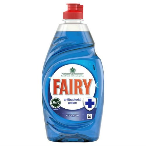 FAIRY Hada Antibacteriano eucalipto Washing Up Liquid 383ml Funda de 6
