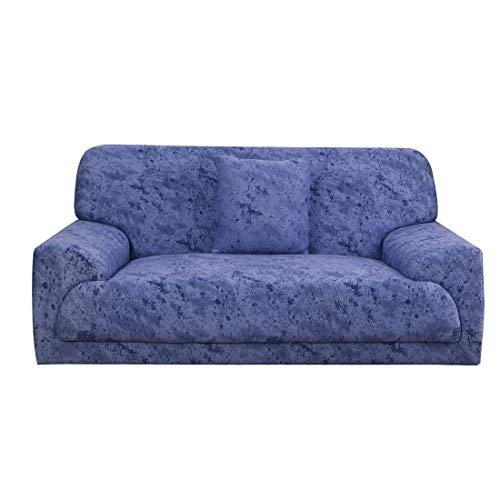 uxcell - Funda de sofá para 1 2, 3 y 4 plazas (poliéster, elástica, antideslizante, 1 pieza, funda de cojín para mascota, diseño con texto '#24', 92'-122')