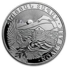 Ark Noah 1 oz zilveren munt zilveren munt 1 oz in muntcapsule