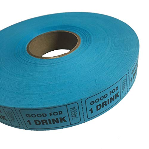 MUNCIE NOVELTY COMPANY Blue Good For One Drink Ticket Roll