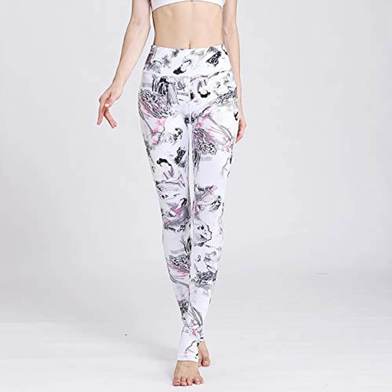 YJKJSK New Yoga Pants Women Sports Tall Waist Stretched Gym Clothes Spandex Running Tights Women Sports Leggings Fitness