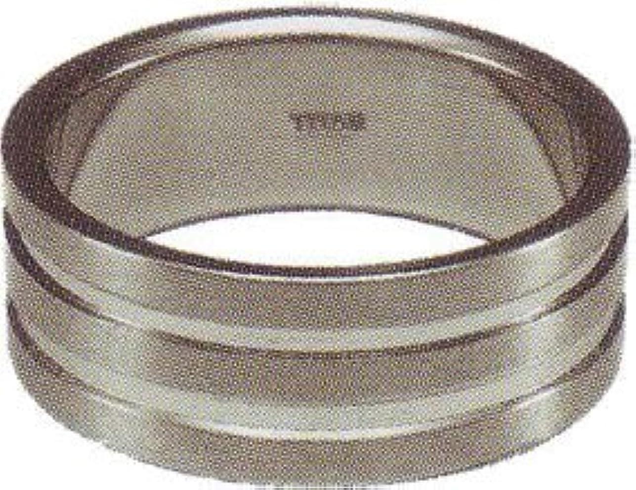 刺繍バブルラジウムセイバーワン チタンリング TR8-01 #11 ヘアーライン+ミラー