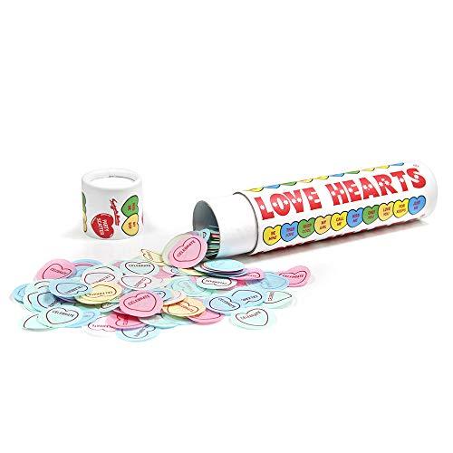 Suck UK Confettis de fête Love Hearts
