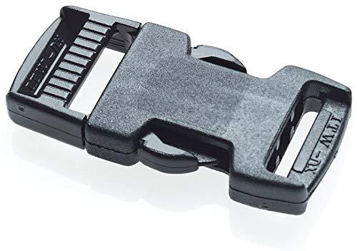 ITW Nexus 20 mm rilascio laterale nero per la tessitura tattica militare. #1517