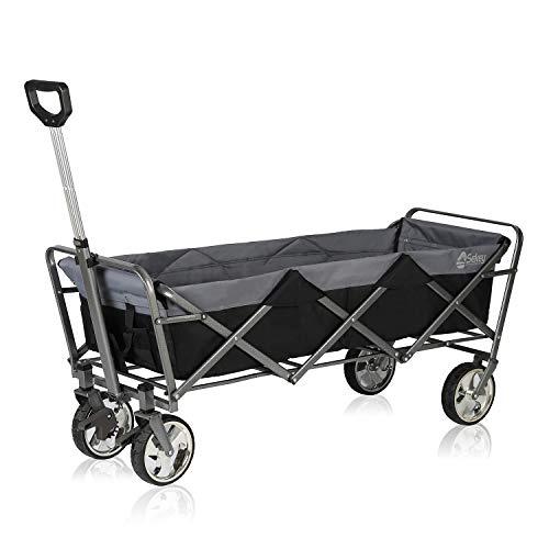 Sekey Alargar Carro Plegable Extensible Carro de Mano Carrito Playa Carro Transporte para Jardín hasta 120kg 360° Giratorio Apto para Todo Terreno