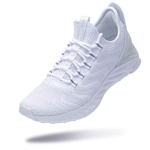PEAK Taichi King Women's Adaptive Smart Cushioning Running Shoes, Sneakers for Running, Walking, Fitness, Gym White