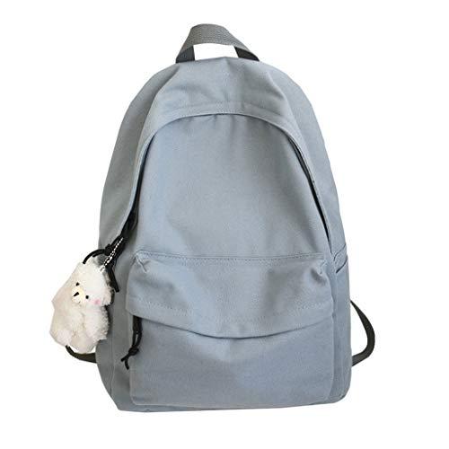 Y-POWER Unisex DIY Canvas Backpack Daypack Satchel Backpack School Bookbag Travel Backpack