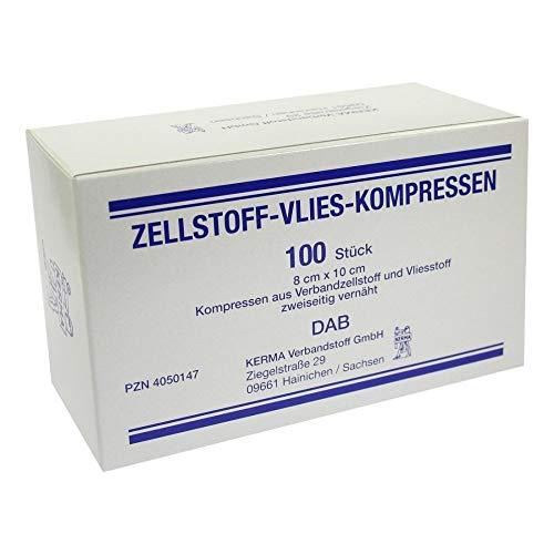 ZELLSTOFF VLIES KOMPRESSEN 8x10 cm unsteril 100 St