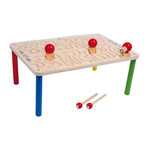 Equilibre et Aventure Jeu d'adresse et de dextérité : parcours aimanté sur table de motricité, utilisable dessus ou dessous, pour 1 ou 2 joueurs