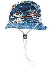 Happy Cherry - Neonati Cappello da Pescatore Bambino Bambine Estivo Bambini Bucket Hat Anti-UV Berretto con Ala Protezione Solare per Spiaggia Vacanza Viaggio Outdoor - 0-6 Anni