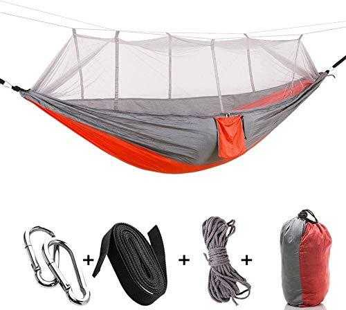 Hamac léger Filets hamac de Camping en Plein air Sacs à Dos de randonnée Parachute Couchage Camping hamac en Nylon, Sacs à Main Couleur: Brun (Color : Buff)