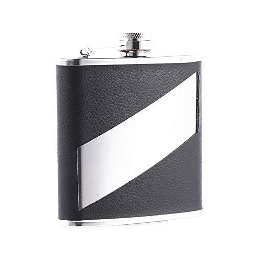 Flachmann fles - 8 oz roestvrij staal beste drinkfles voor alcohol, whisky, lekvrij, Easy Pour in Slim Pocket Goed voor vaderdagcadeaus outdoor-activiteiten