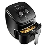 SPSUPE 3.5Qt 1300W Air Fryer, Electric Hot Oil-Less Oven Cooker with Non Stick Fry Basket, Temperature Control and Smart Time, Auto Shut Off, 10 (L) X 13 (W) X 13.5(H), Black