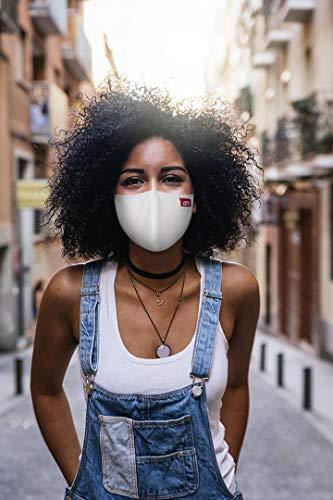 1 x AIREVO Community Maske Gesichtsmaske Alltagsmaske Mund-Schutz Stoff-Maske mit...