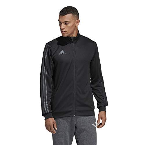 adidas Men's Alphaskin Tiro Training Jacket, Black/Carbon Pearl Essence, Medium