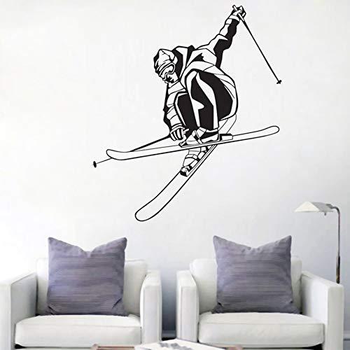 yaonuli Juego de esquí de Velocidad Extrema Pegatinas de Pared calcomanías de Pared de Vinilo decoración del hogar Pegatinas de Pared extraíbles 57X157cm