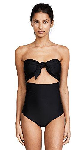 MIKOH Women's Lana Swimsuit, Night, Black, Small