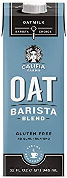 6-Pack Califia Farms Unsweetened Barista Blend Oat Milk, 32 Oz