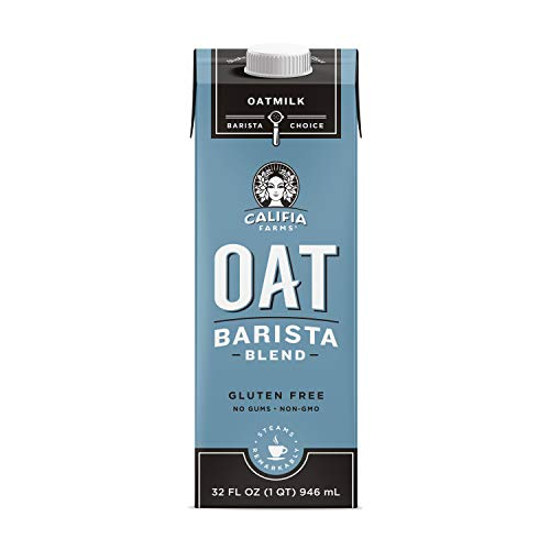 Califia Farms Unsweetened Oatmilk Barista Blend, 32 Oz (Pack of 6) | Whole Rolled Oats | Dairy Free | Coffee Creamer | Gluten-Free | Vegan | Plant Based | Non-GMO