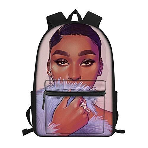 fhdc Rucksäcke Afro Mädchen Schwarz Frauen Kunst Schultaschen Mode Jugendliche Schultaschen Rucksäcke wasserdichte Bookbags Für KinderHmc1709Z58
