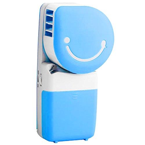 Mini ventilatore Cool senza palmare portatile condizionatore d'aria acqua raffredamento tavolo scrivania Desktop elettrico ricaricabile USB batteria per casa e ufficio studenti Outdoor trekking campeggio viaggio blu