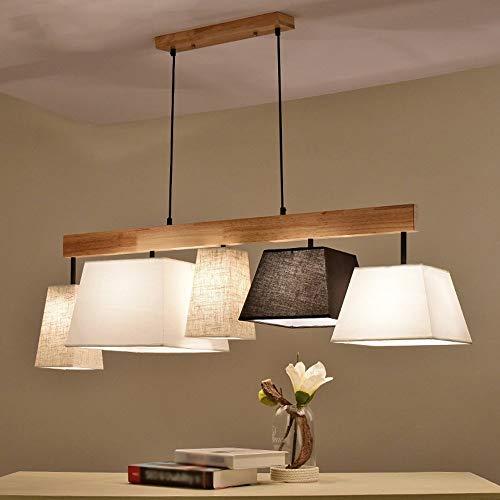 zdw Lámpara de iluminación Noble Luces colgantes Lámpara de calidad Lámpara colgante para Hades Ess Bar Lámparas de suspensión Cocina Madera E 27 * 3/5 de Lámparas de iluminación,B: 5lamps