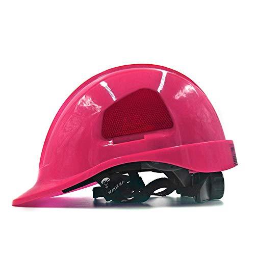 Sooiy Casco de Seguridad en la construcción, de 7 Colores, Unisex Seguro y ventilado...