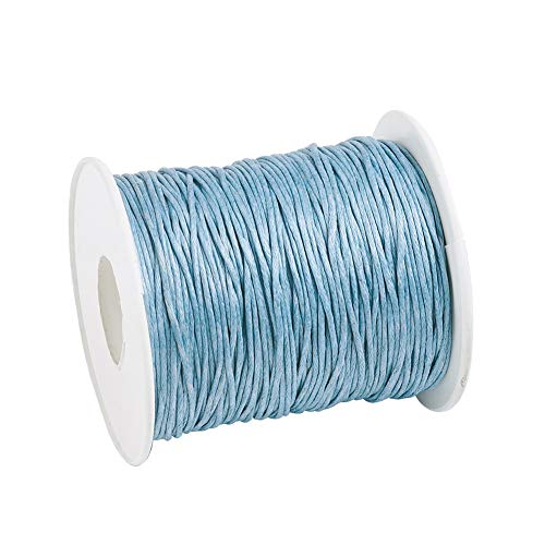 Craftdady 100 Yards 1mm Waxed Cotton Cord Macrame Bracelet Necklace Jewelry Making Waxed Beading Thread String (LightSteelBlue)