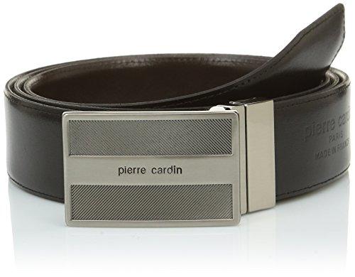 Pierre Cardin 1391372 Ceinture, Noir (Noir/Marron), FR: 110 cm (Taille fabricant: 110) Homme