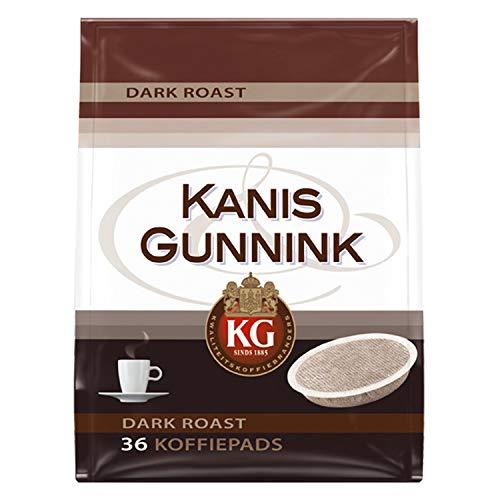 Kanis & Gunnink Dark Roast Koffiepads, 10 x 36 Pads