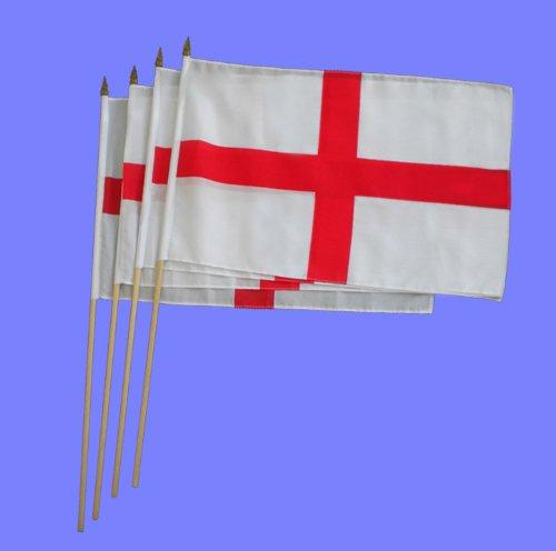St George/Angleterre Coupe du Monde de Football Grand main agitant drapeaux (x 12)