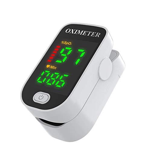 Unisex-Blutsauerstoffsättigungsmonitor Puls Herzfrequenzmonitor Fingerclip Pulsoximeter Watch with ABS Weiß