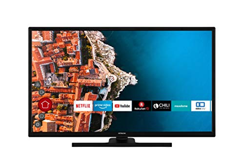 HITACHI F32E4200 32 Zoll Fernseher (Full HD, Smart TV, HDR10, Prime Video/Netflix/YouTube, Works with Alexa, Bluetooth, Triple-Tuner, PVR)