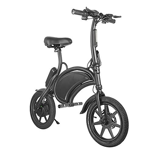 Bicicleta de montaña eléctrica para hombres adultos Velo eléctrico Bicicleta eléctrica plegable para mujer 14 pulgadas 350W 25KM / H 15-30KM