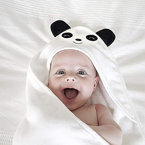 Bamboo Fiber Hooded Baby Towel-Panda,Ultra Soft Thick & Extra Absorbent...