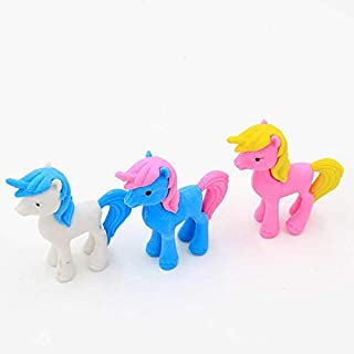Party Propz 12 Pcs Colorful Unicorn Shaped Eraser - Unicorn Theme Returns Gifts Kids