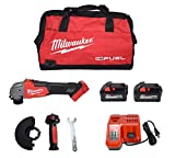 Milwaukee 2881-22 M18 Fuel 4-1/2 5' Grinder Slide Switch Kit with (2) 6.0Ah Lithium-Ion Batteries, Charger & Tool Bag
