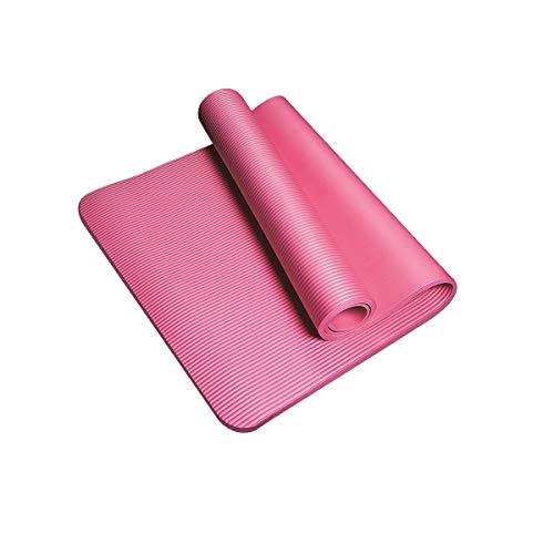 JWGD Estera de Yoga, Estera de la Danza, Principiante Antideslizante ensanchamiento Engrosamiento y alargamiento, púrpura, Rosa, Tamaño;183cmX61cm Grosor: 10 mm