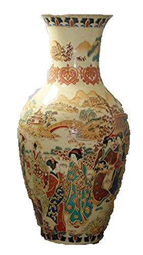 Fashion158 Porcelana Vieja China fina pintada Old Glaze Porcelana Jarrones...