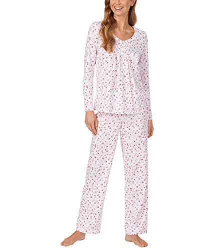 Carole Hochman Women's Long Sleeve Pajama Set, Floral Print, Large