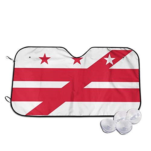 Bandera de Washington DC para parabrisas de coche, parasol para ventana frontal, ajuste universal, mantiene tu vehículo fresco.